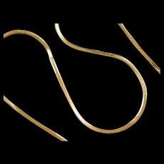 """Vintage 14k Gold Herringbone Chain  ~ 18"""" ~ 4.2 Grams"""
