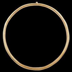 "Vintage 18k Gold Spring Omega Chain  ~ 16"" ~ 38.2 Grams"