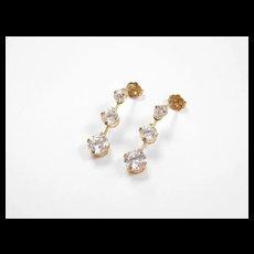 Vintage 10k Gold Faux Diamond Earrings
