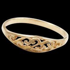 Vintage 10k Gold Filigree Swirl Ring