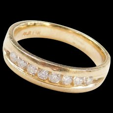 Vintage 14k Gold Men's Diamond Wedding Band Ring