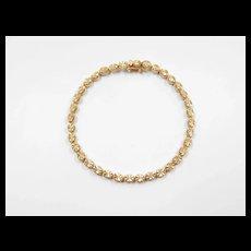 """Vintage 14k Gold Bracelet ~ 7"""""""