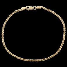 Vintage 14k Gold Rope Bracelet