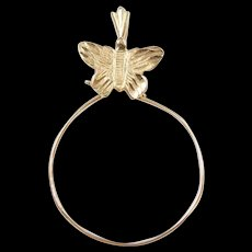 Vintage 14k Gold Butterfly Charm Holder Pendant