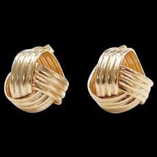 Vintage 14k Gold Love Knot Stud Earrings