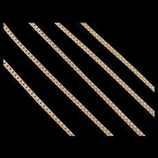"""Vintage 14k Gold Box Chain ~ 18"""" ~ 5.2 Grams"""