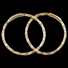 Vintage 14k Gold Small Twisted Hoop Earrings  ~ Never Ending