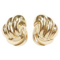 Vintage 14k Gold Big Stud Earrings