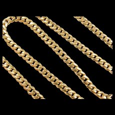 "Vintage 18k Gold Curb Link Chain ~ 19 1/2"" ~ 36.3 Grams"
