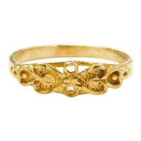 22k Gold Heart Ring