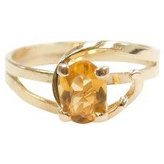 18k Gold Modernist Citrine Ring