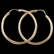 Vintage 14k Gold Endless / Never Ending Hoop Earrings