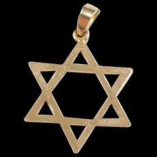 Vintage 14k Gold Star of David Charm / Pendant
