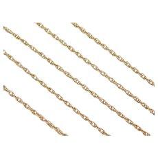 "Vintage 14k Gold Loose Rope Chain ~ 20"" ~ 3.2 Grams"