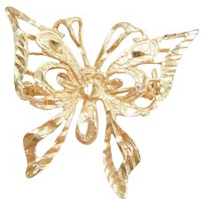 Vintage 14k Gold Butterfly Pin / Brooch