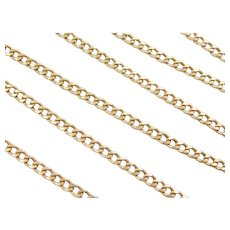 "Vintage 18k Gold Long Curb Link Chain ~ 24"" ~ 7.9 Grams"
