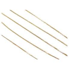 """Vintage 18k Gold Serpentine Chain ~ 15"""" ~ 1.7 Grams"""