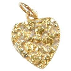 Vintage 10k Gold Heart Charm