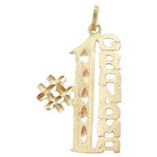 Vintage 14k Gold #1 Grandma Charm / Pendant