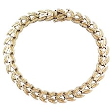 """Vintage 10k Gold Bracelet ~ 7 1/2"""""""