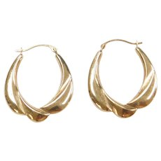 Vintage 10k Gold Hoop Earrings