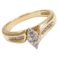 Vintage 14k Gold Diamond Engagement Ring