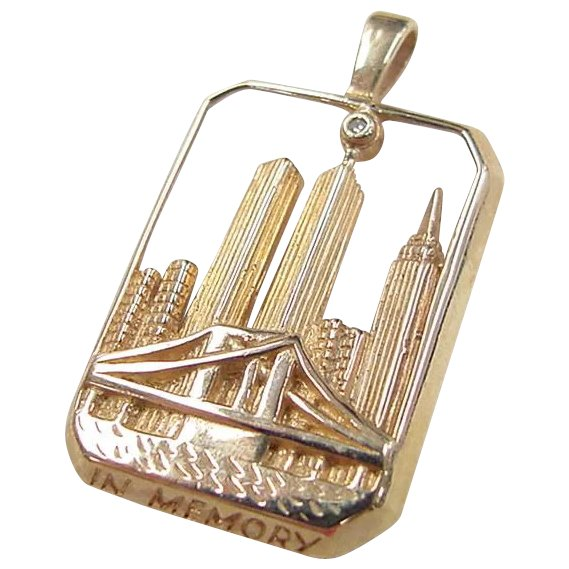 14k Gold World Trade Center Twin Towers