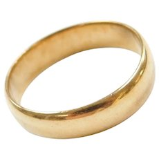 18k Gold Wedding Band Ring