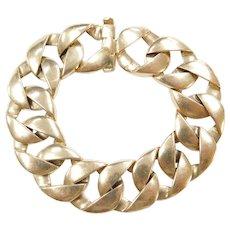 """14k Gold WIDE Curb Link Bracelet ~ 6 3/4"""""""
