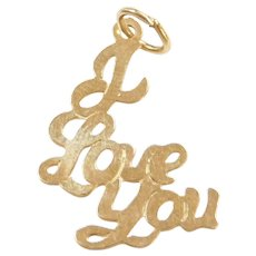 14k Gold I Love You Charm
