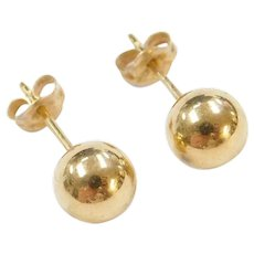 6mm 14k Gold Ball Stud Earrings