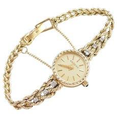 "Geneve 14k Gold Diamond Ladies Watch 6 1/8"" - 6 1/4"""