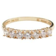 Faux Diamond .49 ctw Band Ring 14k Gold