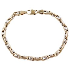 14k Gold Two-Tone Moving Bracelet ~ 7 1/4""