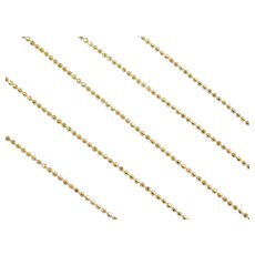 "14k Gold Diamond Cut Bead Chain ~ 20"" ~ 2.6 Grams"