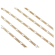 "14k Gold Figaro Link Chain ~ 20"" ~ 7.4 Grams"