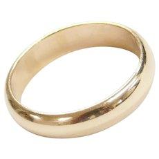 14k Gold 5mm Wedding Band Ring