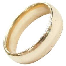 14k Gold 6mm Wedding Band Ring