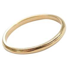 14k Gold Thin 2mm Band Ring