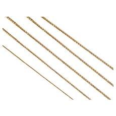 """20 3/4"""" 14k Gold Thin Box Chain ~ 1.9 Grams"""