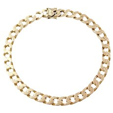"9 1/2"" 33.2 Grams 14k Gold Men's Curb / Cuban Link Bracelet"
