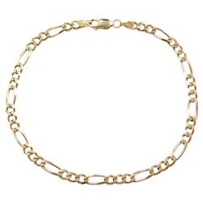 """8"""" 14k Gold Figaro Link Bracelet"""