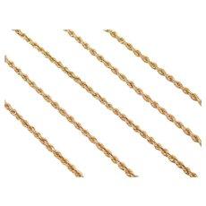 "24"" Long 14k Gold Rope Chain ~ 10.5 Grams"