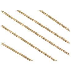"""19 1/2"""" 14k Gold Serpentine Chain ~ 6.0 Grams"""