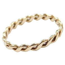 14k Gold Twisted Band Ring