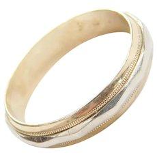 14k Gold Two-Tone Men's Wedding Band Ring