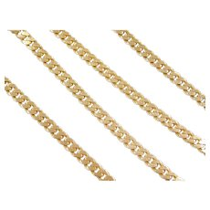 "19"" 14k Gold Curb Link Chain ~ 28.0 Grams"