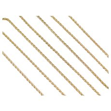 "30"" 14k Gold Long Wheat Link Chain ~ 11.7 Grams"