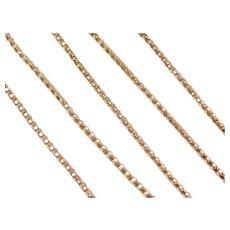 "33 1/2"" Long 9k Gold Popcorn Chain ~ 15.0 Grams"