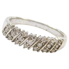 10k White Gold .21 ctw Diamond Ring